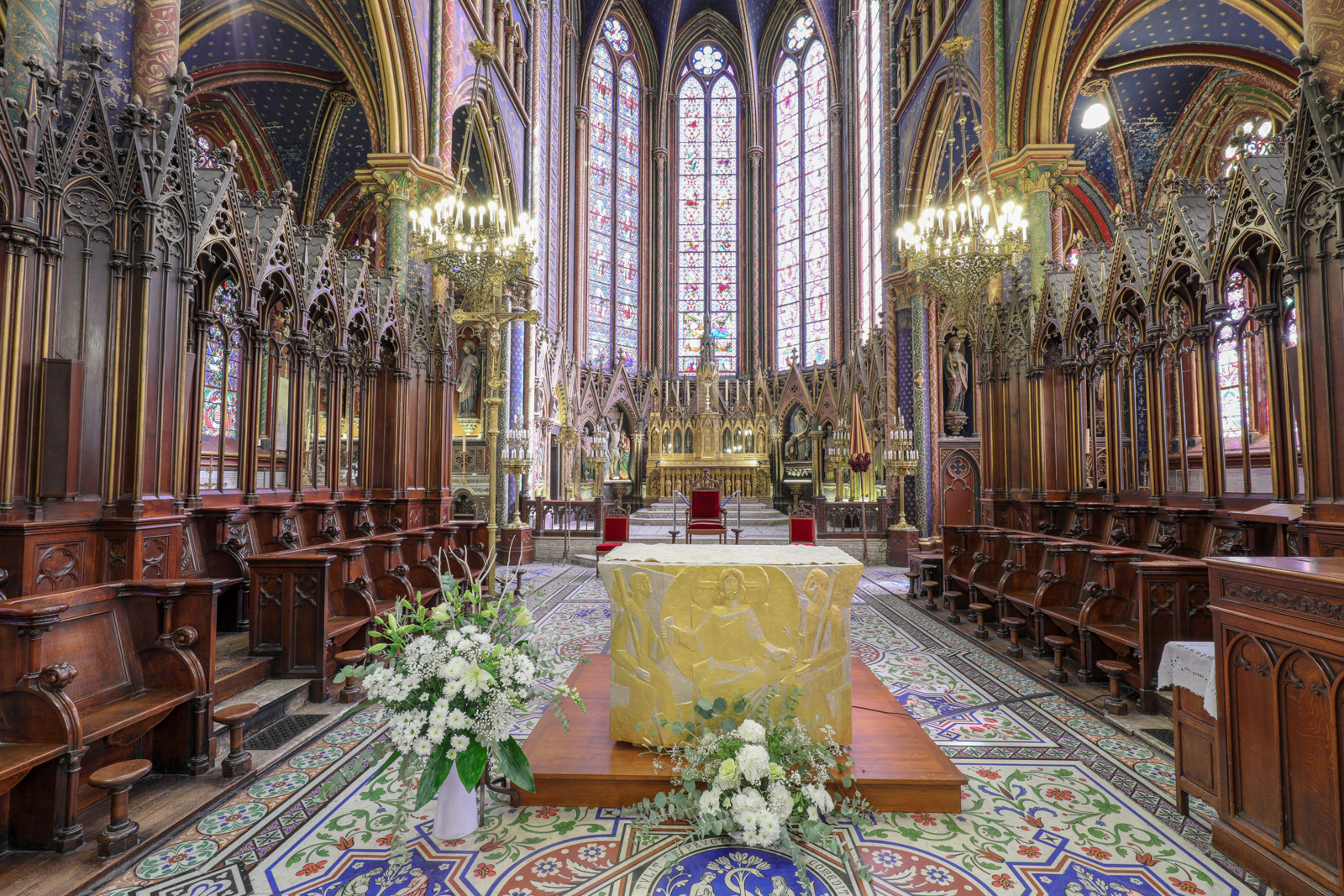 Perspective du choeur de la basilique